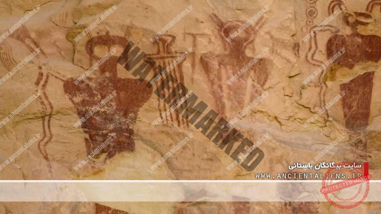 خطوط تصویری در گرند کنیون در ایالت یوتا