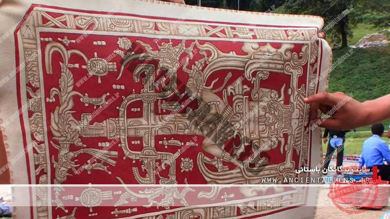 طرحی از قبر شاه پاکال
