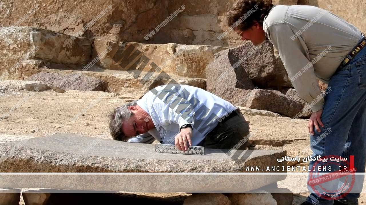 اثر ابزار برش بر روی سنگهای باستانی