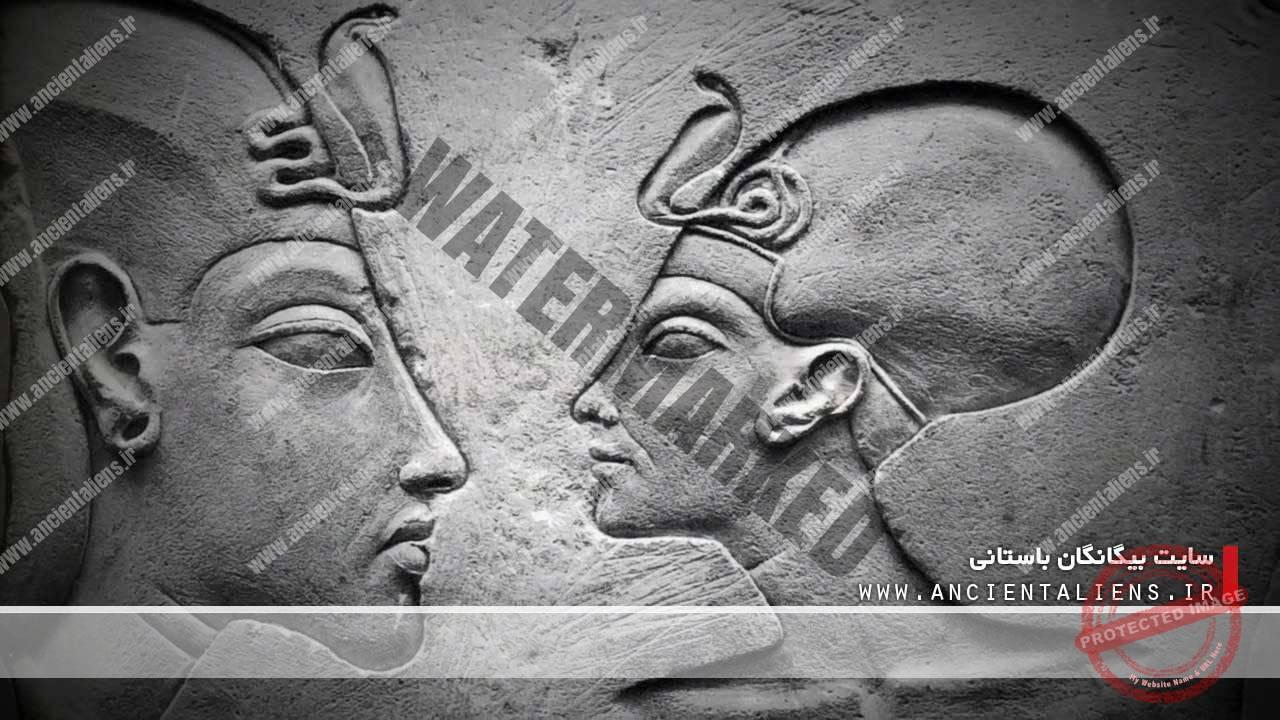 آخناتن فرعون مصر و ملکه نفرتیتی همسر آخناتن