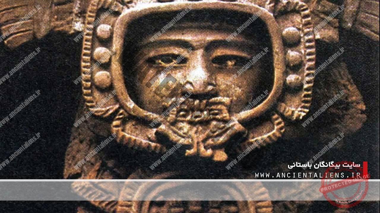 مجسمههای باستانی با لباس فضانوری