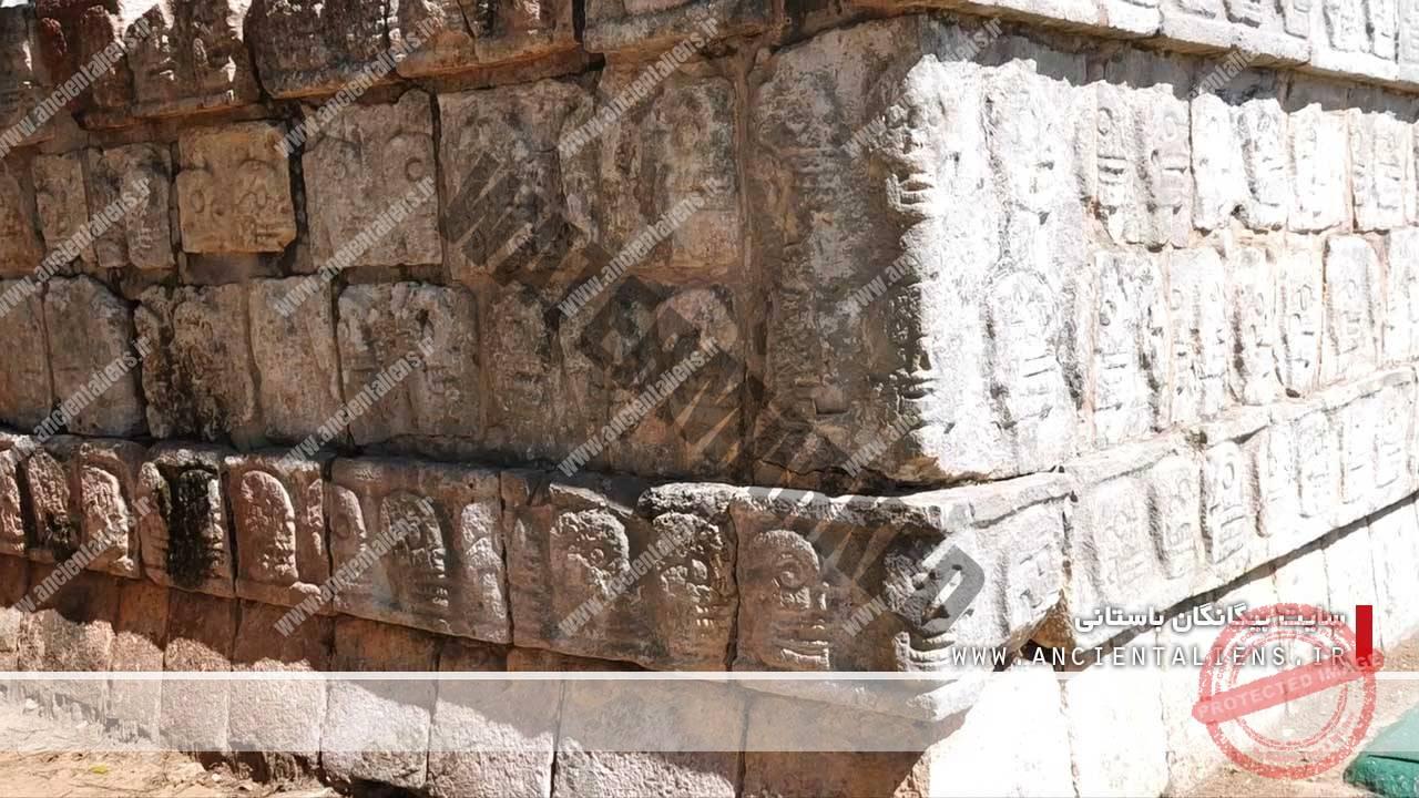 استفاده از جمجمه در بناهای مایا