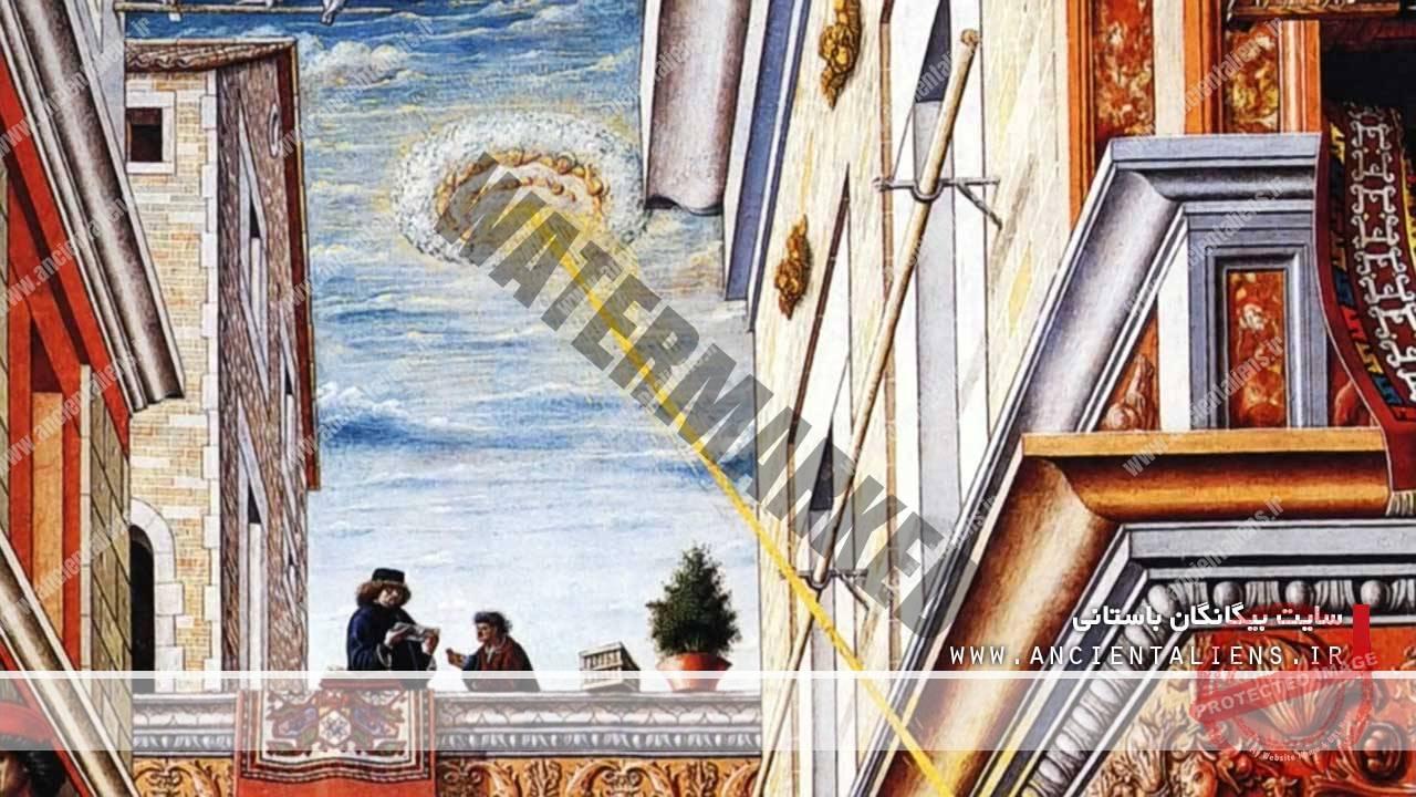 یوفو در نقاشیهای قرون وسطی