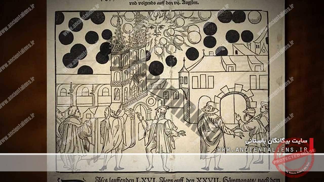 مشاهده یوفو در قرون وسطی