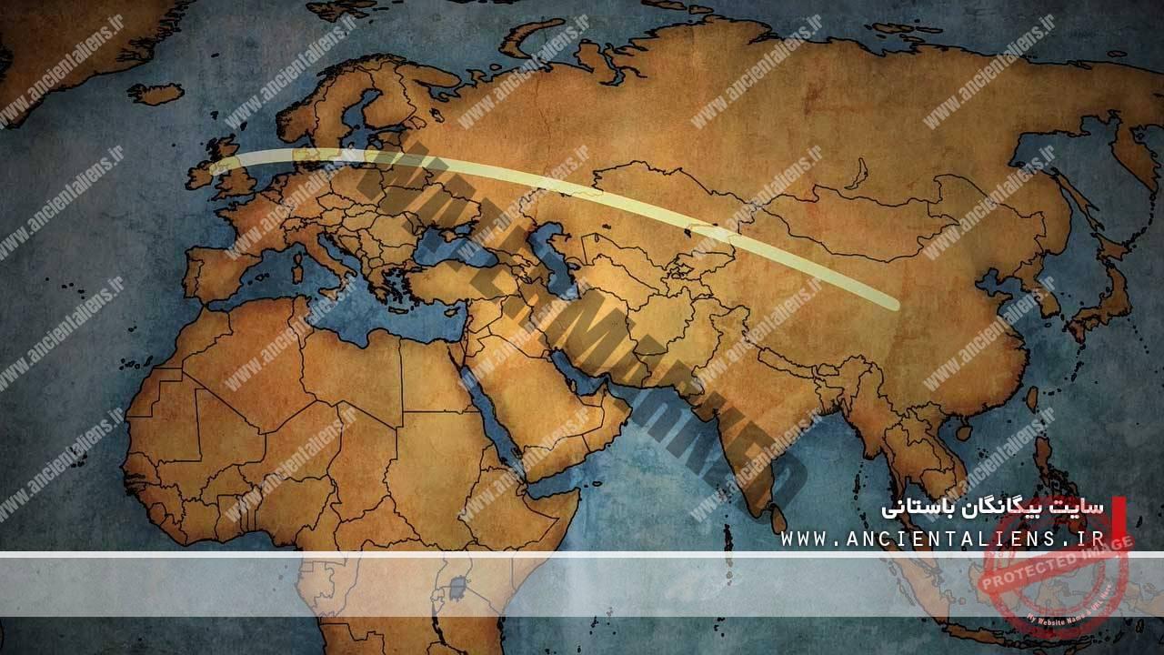 مسیر مشاهده یوفو در قرن هجدهم