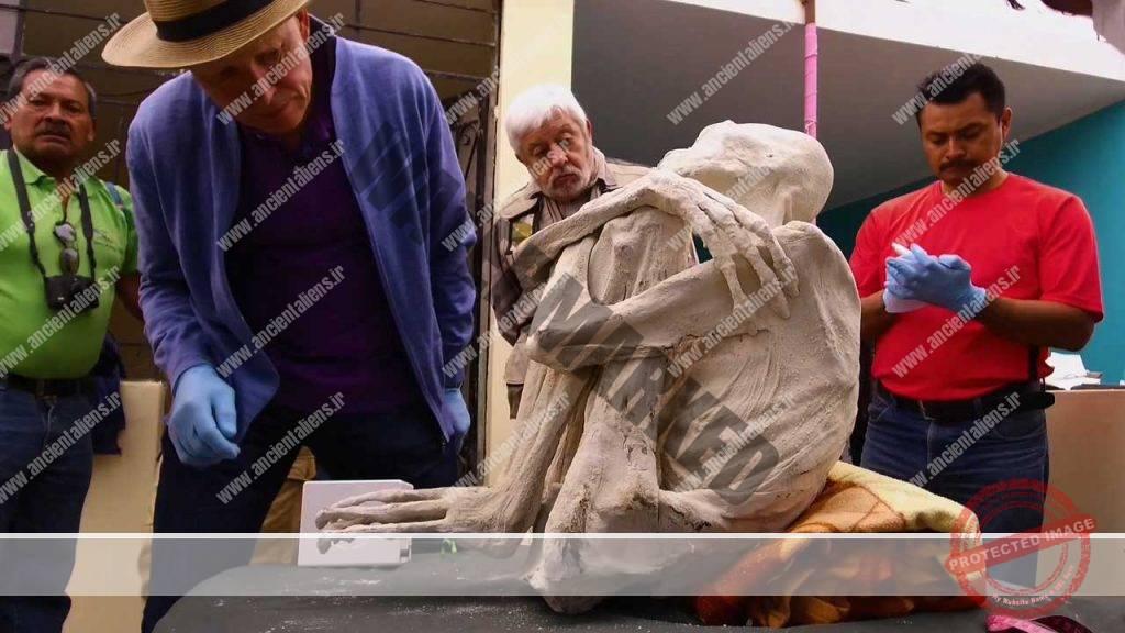 کشف مومیایی یک انساننما در نازکا 2017